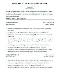 preschool teacher resume preschool teacher resume sample page 1