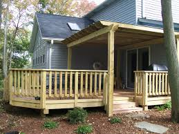 decor u0026 tips multi level decks with deck railing ideas for wooden