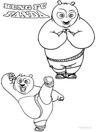 printable kung fu panda coloring pages kids cool2bkids