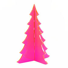 chic neon diy trees and ornaments