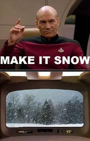 Meme Make - star trek the next generation meme make it snow on bingememe