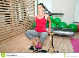 Chair Gym Com Pilates On Chair Stock Photo Image Of Chair Pilates 59164730