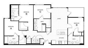 bedroom floorplan professional apartment floorplans douglas heights