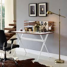 Cherry Wood Desk Amazon Com Modway Knack Wood Desk In Cherry Kitchen U0026 Dining