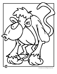 silly monkey coloring animal jr