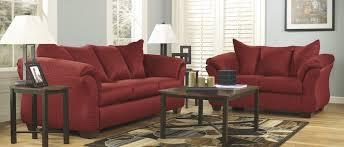 Plush Sofa Bed Contemporary Plush Sofa U0026 Loveseat Red Sam Levitz Furniture