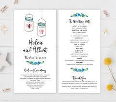 Mason Jar Wedding Programs Wedding Programs Lemonwedding