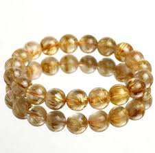 yellow quartz bracelet images 10mm 32g top grade natural golden rutilated quartz gemstone beads jpg