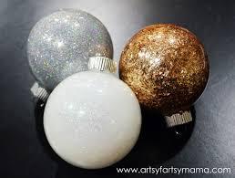 diy glitter ornaments artsy fartsy