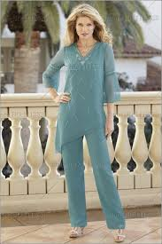 dressy pant suits for weddings chiffon of the pant suits two pieces plus size 34
