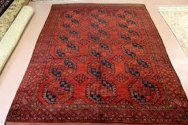 Rugs Only Antique Turkmen Ersari Elephant Foot Design Turkmen Rug Rust