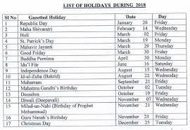 2018 printable calendar with indian holidays free printable