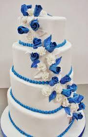 wedding cake royal blue blue and white wedding cake designs living