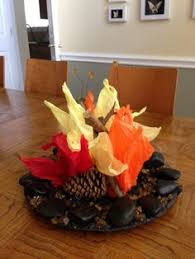 campfire centerpiece cub scout blue and gold dinner blue and