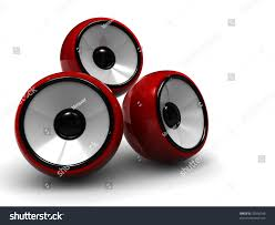 Modern Speaker Abstract 3d Illustration Sound System Three Stock Illustration