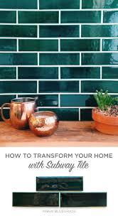 best 25 subway tile colors ideas on pinterest neutral kitchen subway tile to swoon over lose the white and use bluegrass for a rich and