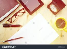 Office Desk Top View Office Table Desk Top View Tablet Stock Photo 522455506 Shutterstock