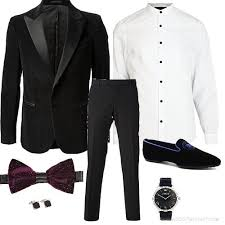 new years bow tie tux with purple bowtie men s asos fashion finder
