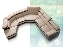 Curved Front Sofa by Living Room Vig Divani Casa Polaris Contemporary Leather