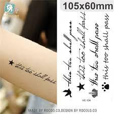 body art waterproof temporary tattoos paper for men women fashion