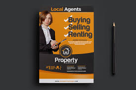real estate trifold template brochure templates creative market