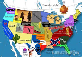 A Map Of The Usa The 5 Most Divisive Usa Stereotype Maps Free Printable Maps The