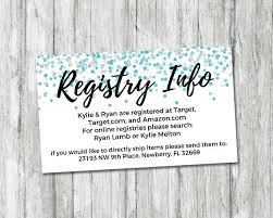 baby gift registries baby shower registry card it s a boy baby shower