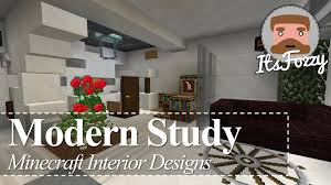 minecraft interior design modern study youtube