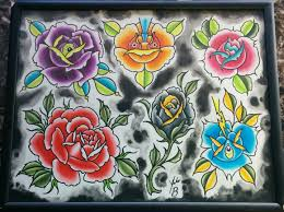 jakeb weird roses flower tattoo flash roses flowers floral rose