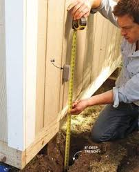 how to run wiring to an outside storage shed or anywhere