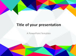powerpoint design colors abstract 80s powerpoint template presentationgo com template and