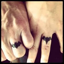 batman batgirl wedding ring tattoo my husband and i decided to