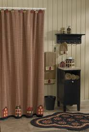 rustic bathroom with park designs primitive shower curtains and