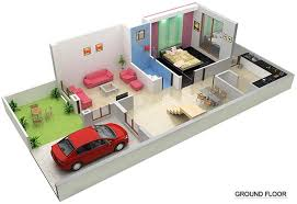 Sbd Cosmoscity 1 Bhk Duplex House Plans