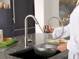 Moen Stainless Steel Kitchen Faucet by Kitchen Exciting Pull Down Faucet For Your Kitchen Decor Ideas