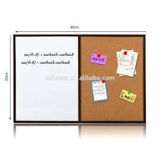 pine wooden frame half magnetic dry erase board and half excellent