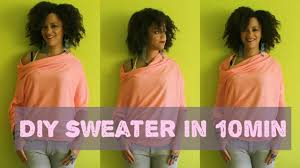 diy clothes how to make a sweater in 10min
