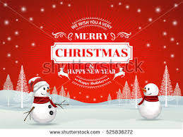 happy christmas cartoon background download free vector art