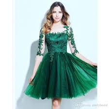 cheap short cocktail dresses emerald green free shipping short