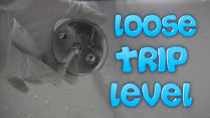 Bathtub Overflow Plate Trip Lever by Loose Trip Level On Bathtub Drain Youtube
