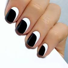 17 black and white nail designs for short nails 20 cute and