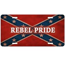 Confderate Flag Rebel Flag Pride License Plate Redneck Confederate Flag Auto Tag