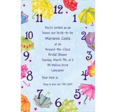 around the clock bridal shower custom around the clock shower bridal shower invitations party city