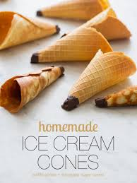 cara membuat es krim wafer homemade ice cream cones recipe spoon fork bacon