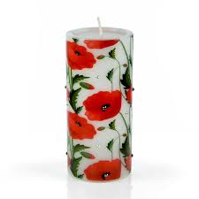poppy home decor decorative luxury flower candle red poppy flowers i from home