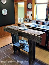 diy kitchen island table 30 rustic diy kitchen island ideas