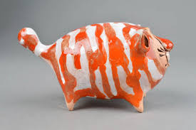 madeheart u003e ceramic animals handmade cat figurines homemade home