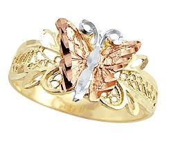 butterfly rings gold images Butterfly ring 14k multi tone gold band right hand jpg