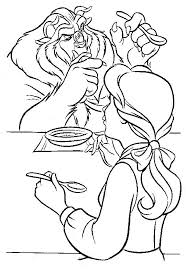 332 beauty beast coloring pages images