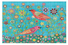 Large Kids Rug Area Rugs From Dianoche By Sascalia Bohemian Birds Contemporary